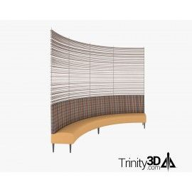 Trinity3D Rounded Restaurant Dining Booth