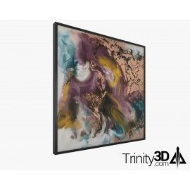 Trinity3D Gold Abstract Painting