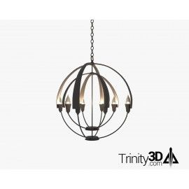 Trinity3D Double Cirque Chandelier