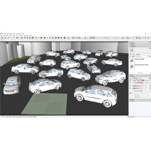 Car Pack 1 Collection for V-Ray Next & SketchUp Pro