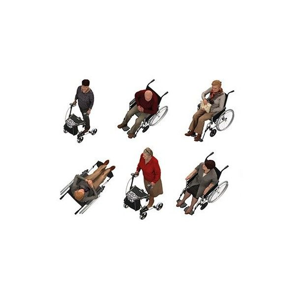 DOSCH 2D Viz-Images: Bird Eye People - Seniors Handicapped