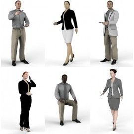 DOSCH 3D: 3D-People - Business for Keyshot
