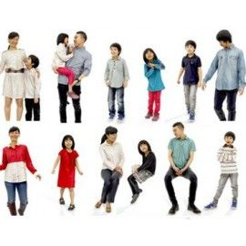 Ready-Posed 3D Family Models MeMsS030HD2