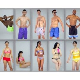 Ready-Posed 3D Beach Models MeMsS015HD2