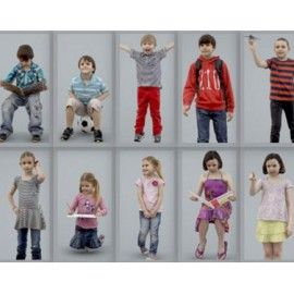 Ready-Posed 3D Children Models MeMsS008HD2